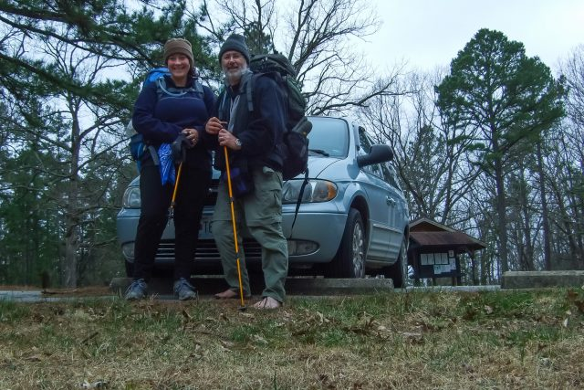 Gary and Ginger at the end of our Berryman Trail backpacking trip (365:083)