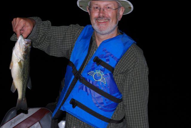 Night fishing on Stockton Lake, Missouri