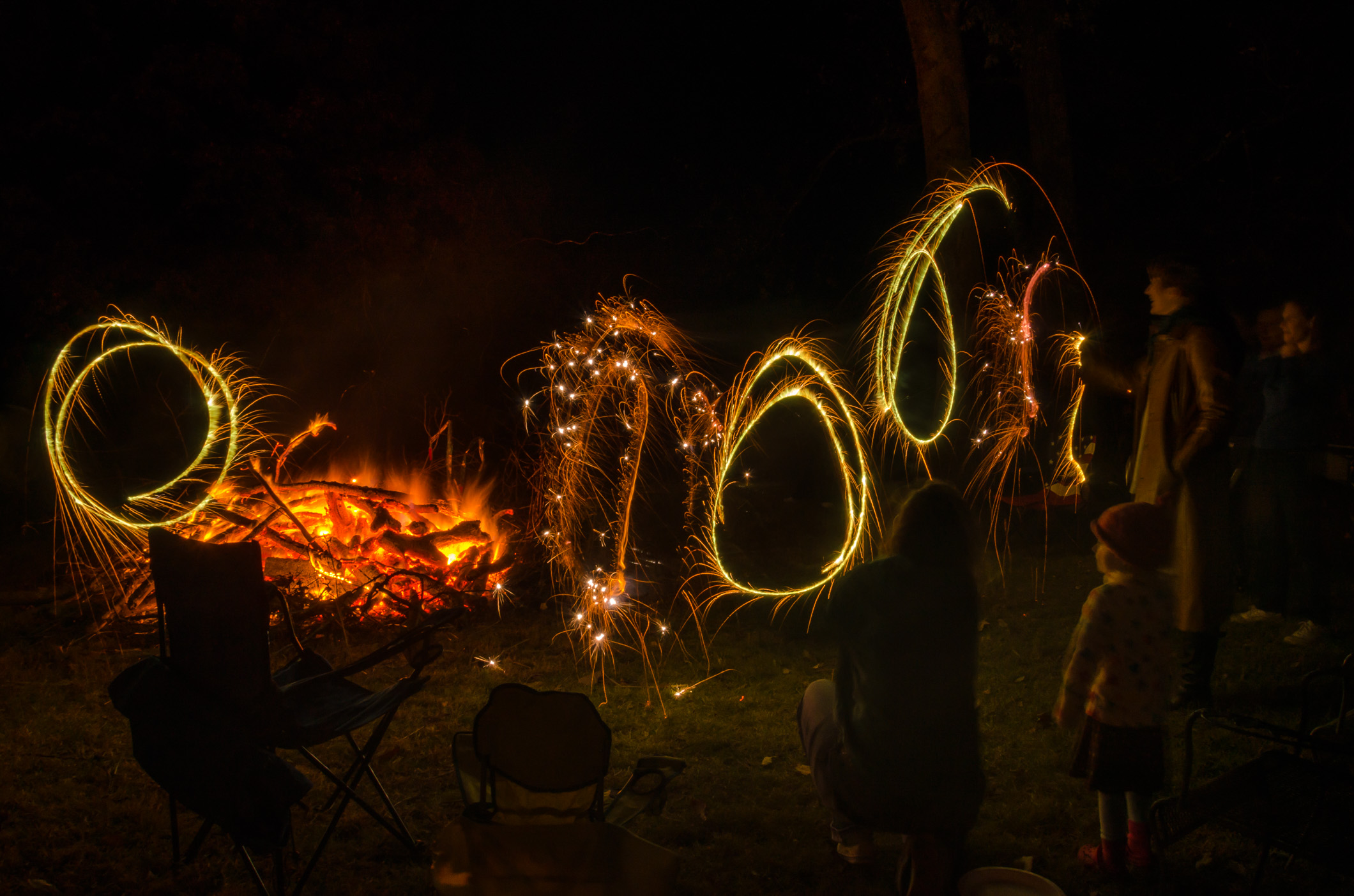 Sparklers Bon Fire Night 2014