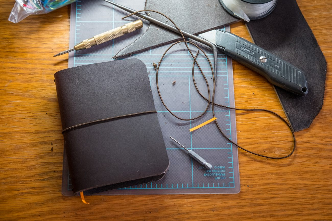 A Faux Dori, leather Journal or Bullet Journal cover