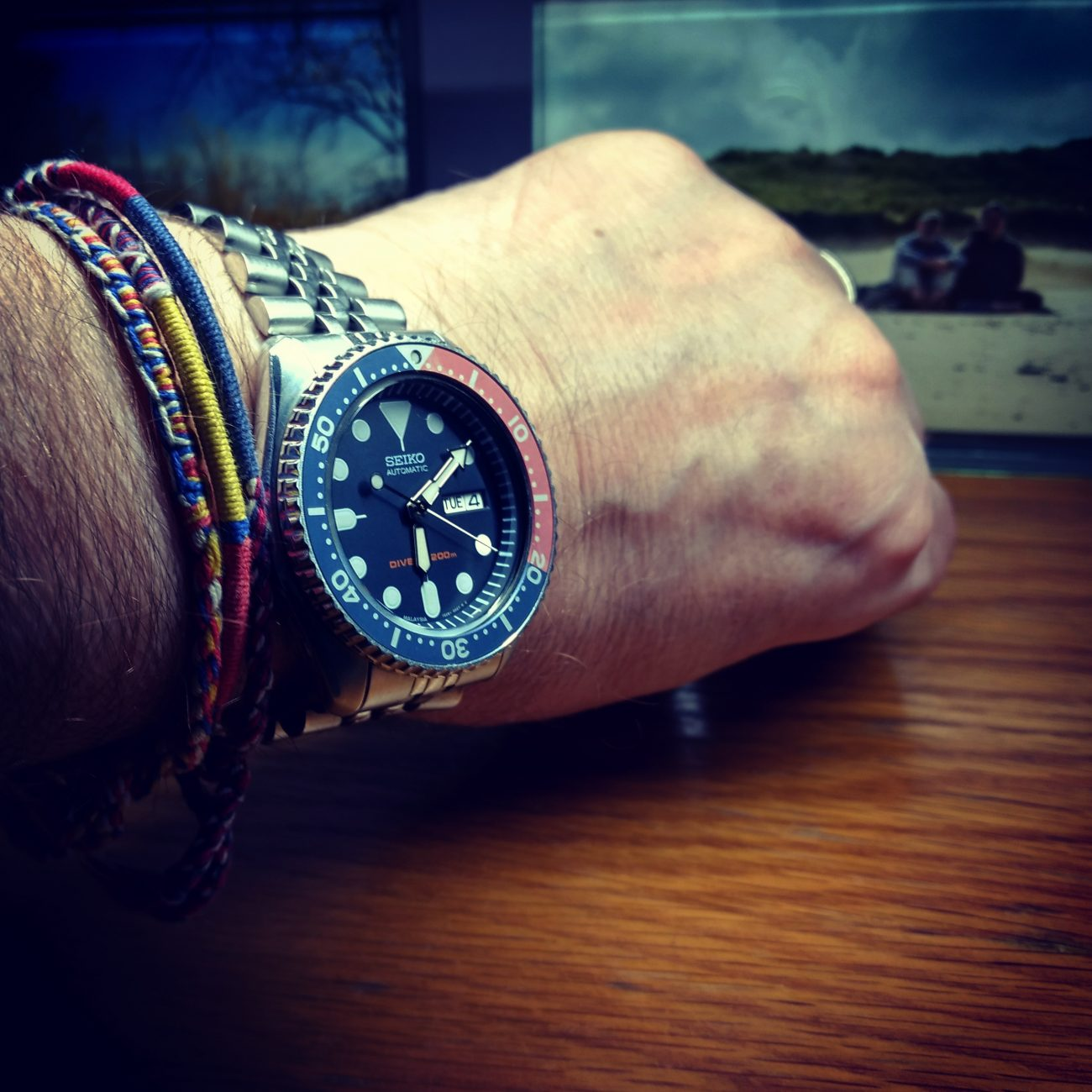 Photograph of a loose fitting Seiko Diver's Watch