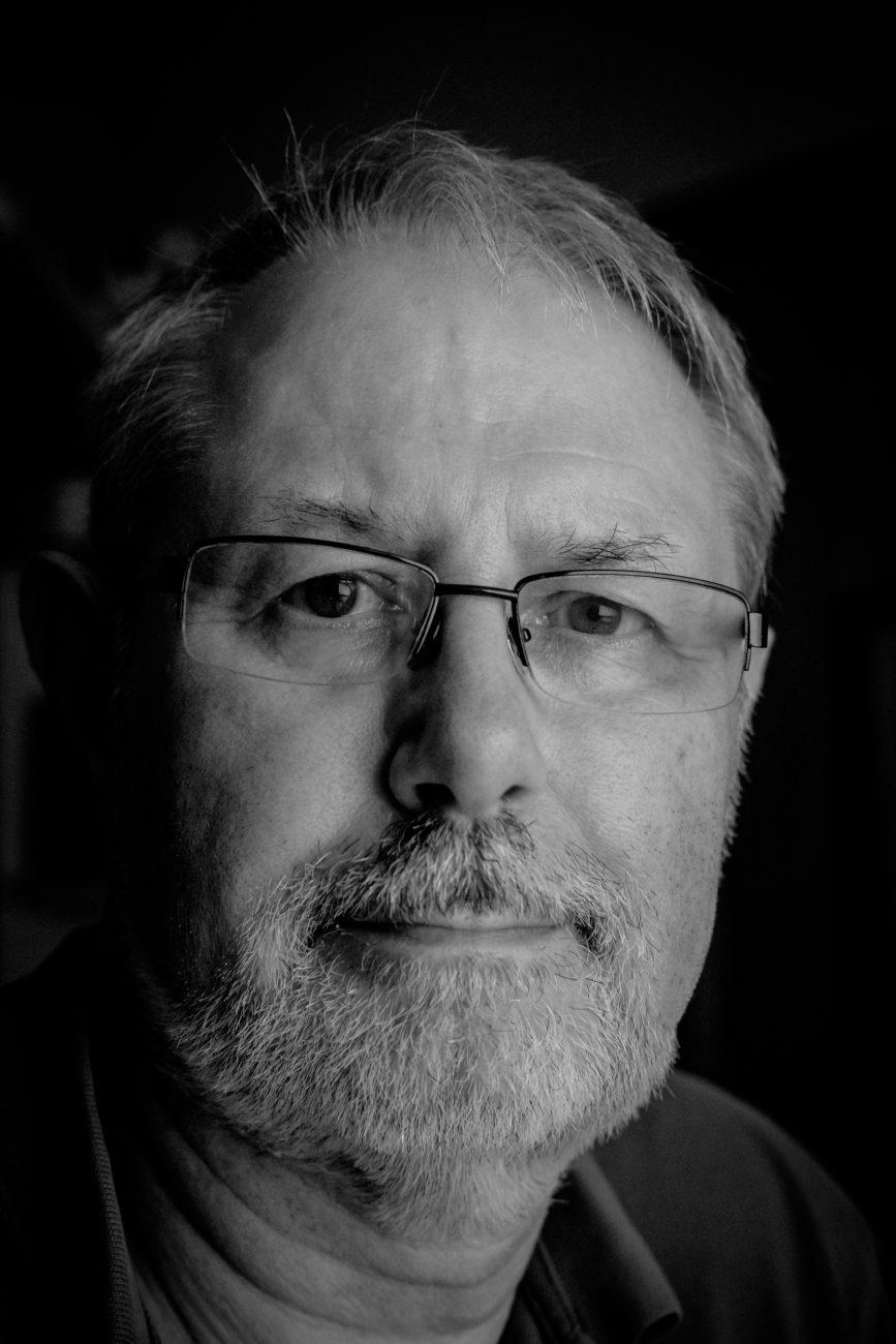 Black and White photograph of Gary Allman