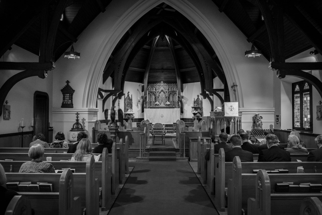 Inside St. John's Episcopal Church, Springfield Missouri